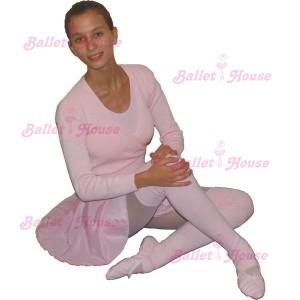 Conjunto ballet rosado adulto