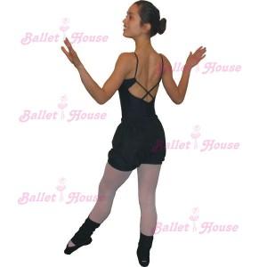 Conjunto de ballet malla lycra con short adulto
