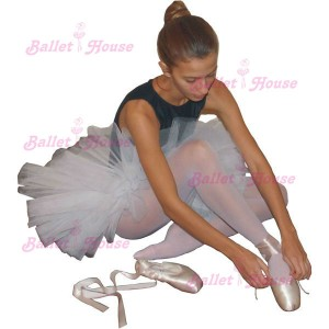 Conjunto de ballet con tutu y zapatillas punta adulto