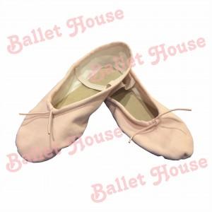 Zapatillas media punta lona rosada