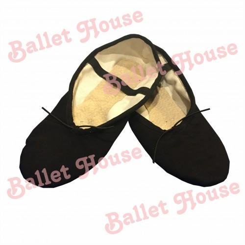 Zapatillas media punta lona negra
