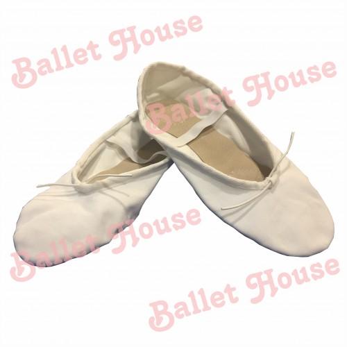Zapatillas media punta lona blanca